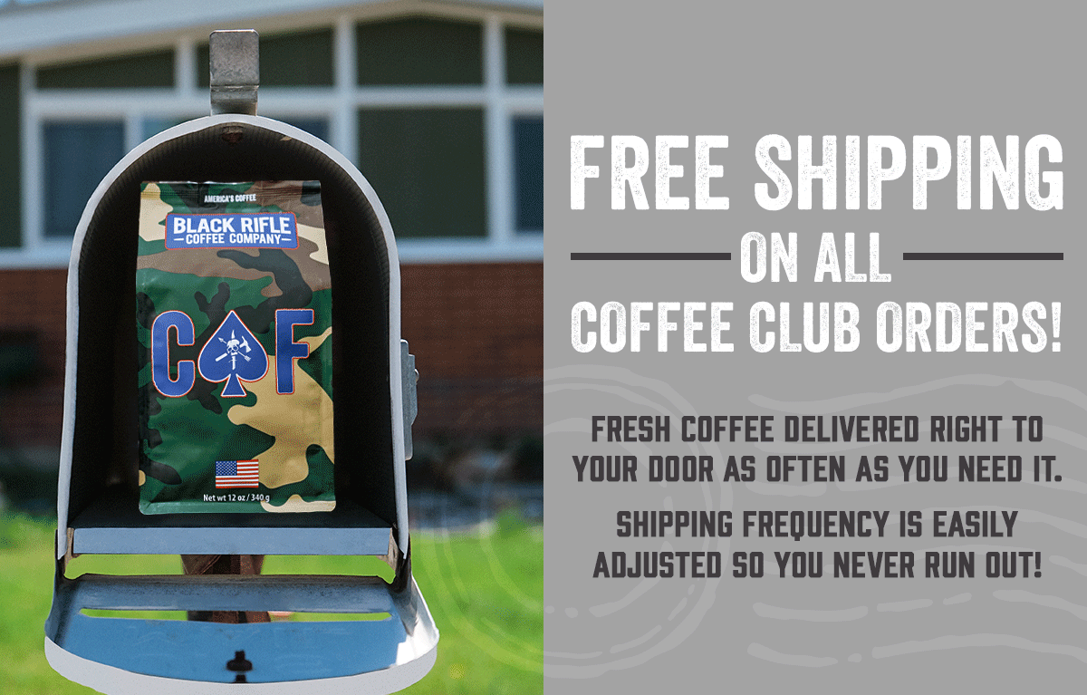 Free Shipping on All Coffee Club Orders